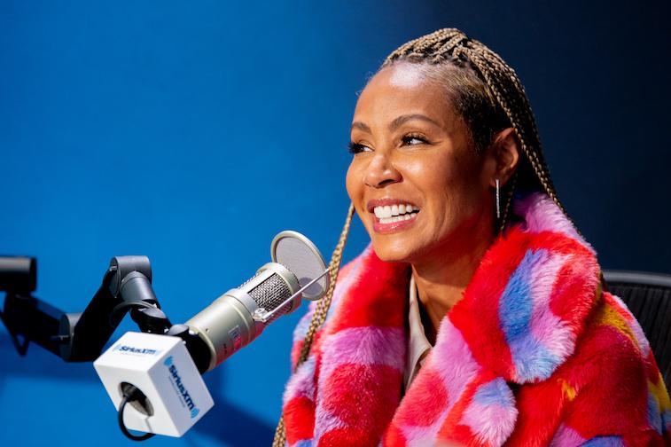 Jada Pinkett Smith talks on the radio