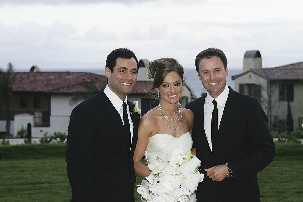 Jason Mesnick and Molly Malaney and Chris Harrison