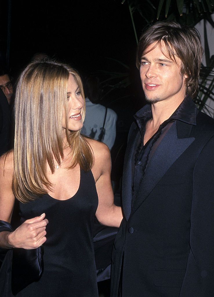 Jennifer Aniston and Brad Pitt at an event