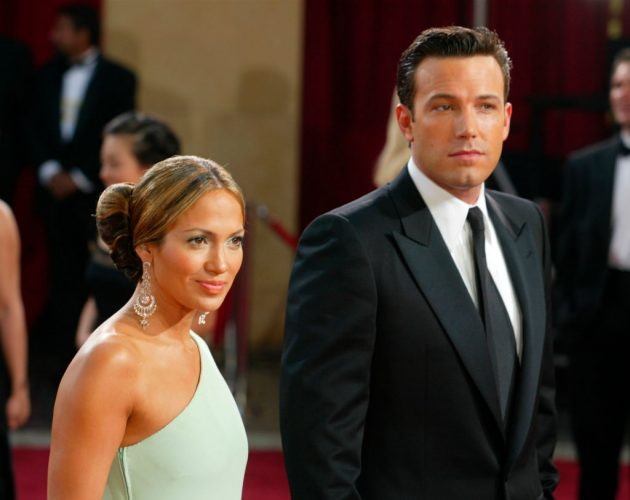 Jennifer Lopez and Ben Affleck at the 75th Annual Academy Awards on March 23, 2003