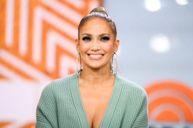 Jennifer Lopez on May 6, 2019, during a taping of 'Today'
