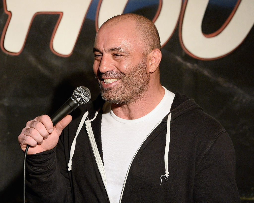 Comedian Joe Rogan performing a set at The Ice House Comedy Club