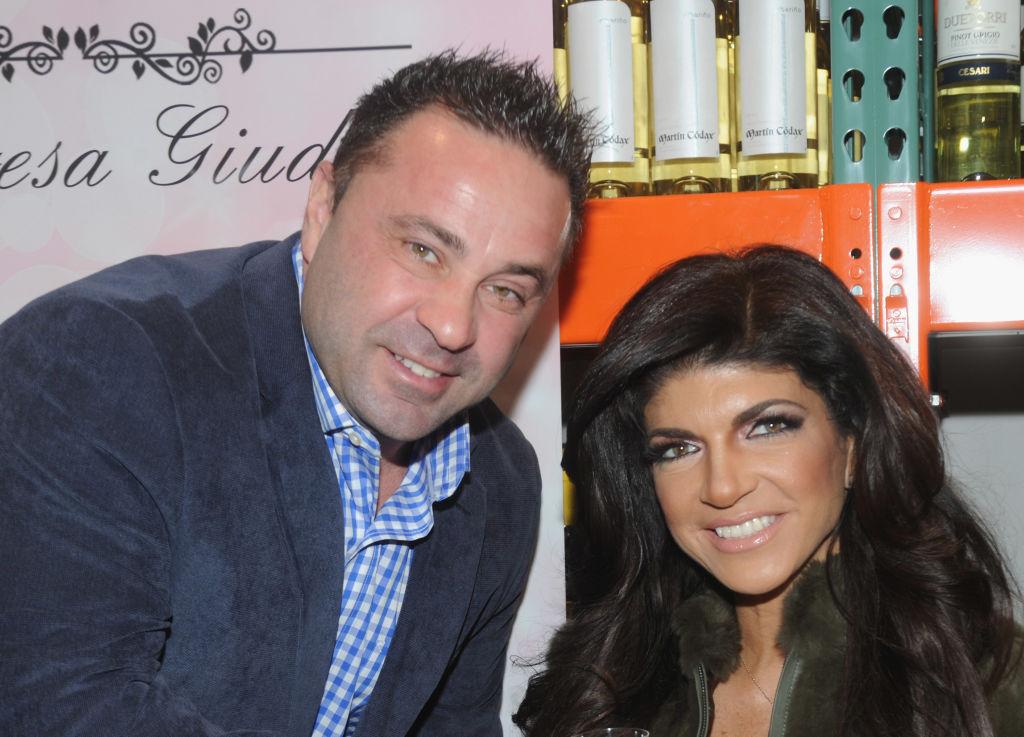 Joe Giudice and Teresa Giudice on March 1, 2014 in Plainfield, New Jersey