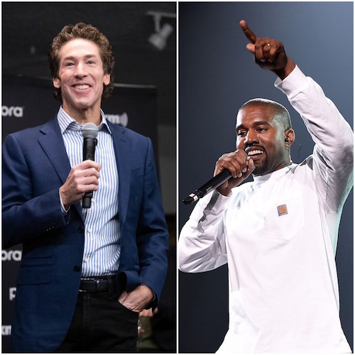Joel Osteen and Kanye West