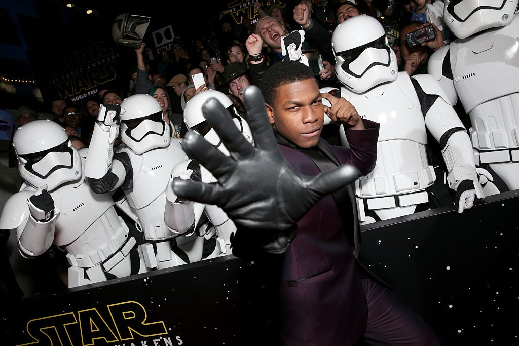 Actor John Boyega attends the Premiere of 'Star Wars: The Force Awakens'