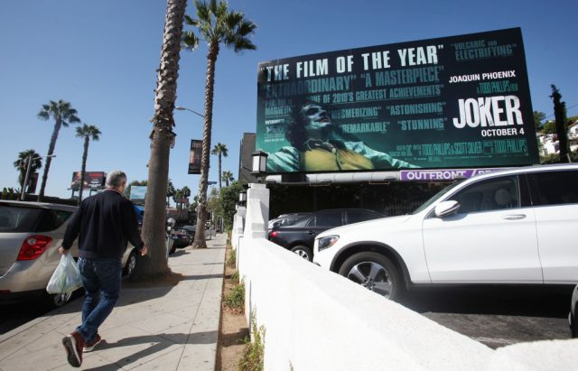 A billboard display for 'Joker'