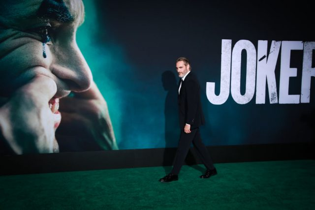 Joaquin Phoenix at the 'Joker' premiere