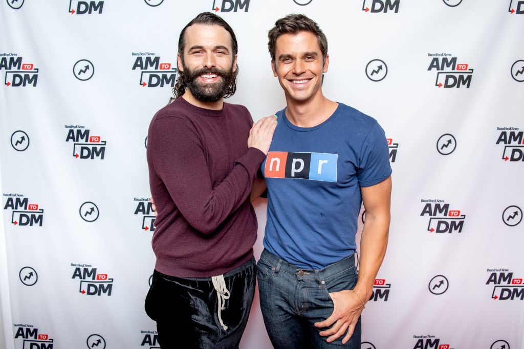 Antoni Porowski with Jonathan Van Ness of 'Queer Eye'
