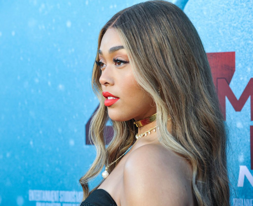 Jordyn Woods at an event in 2019