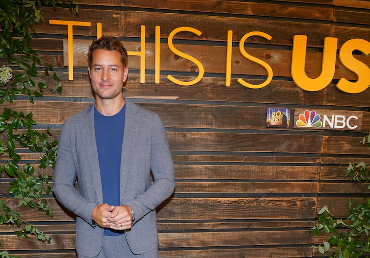 Justin Hartley on the red carpet