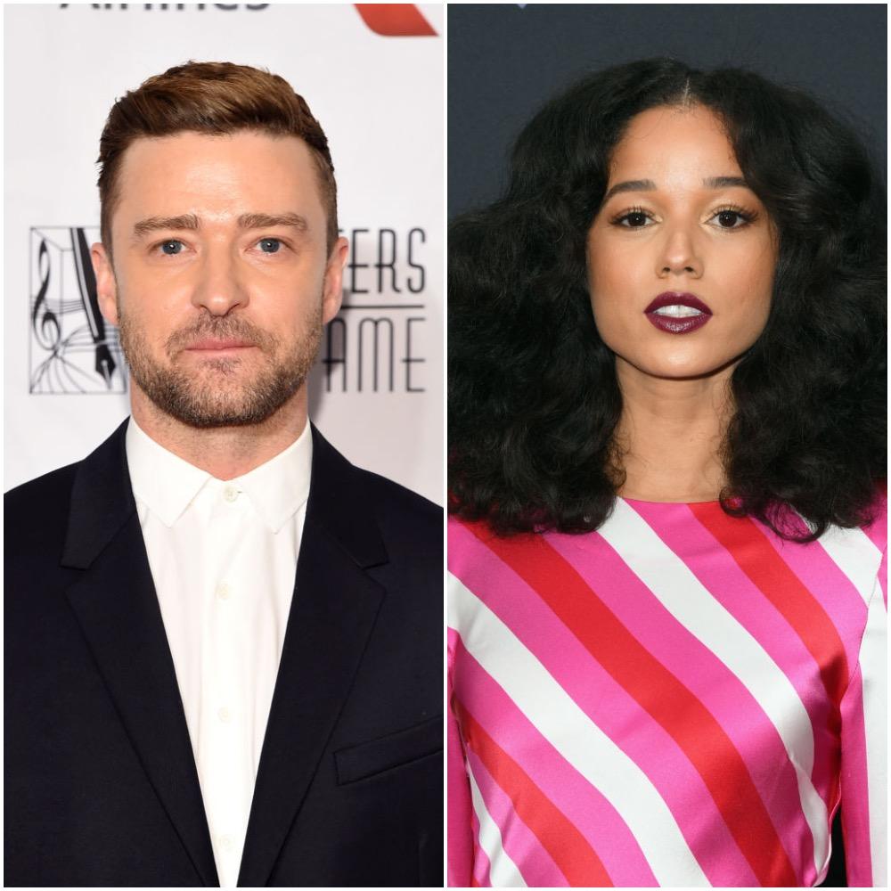 (L-R) Justin Timberlake and Alisha Wainwright