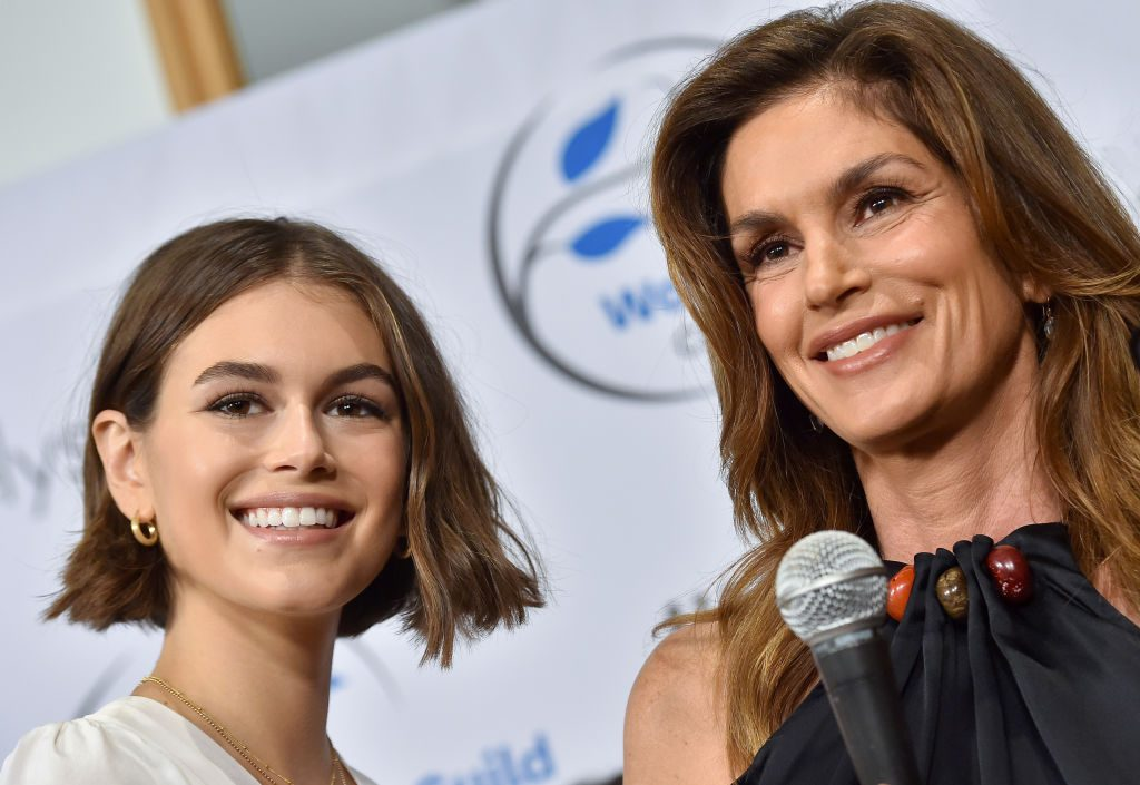 Kaia Gerber and Cindy Crawford attend the Women's Guild Cedars-Sinai Annual Luncheon