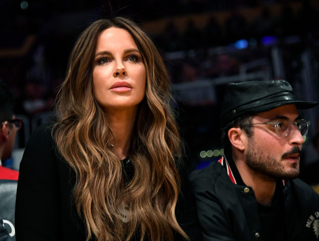 Kate Beckinsale at a Lakers game