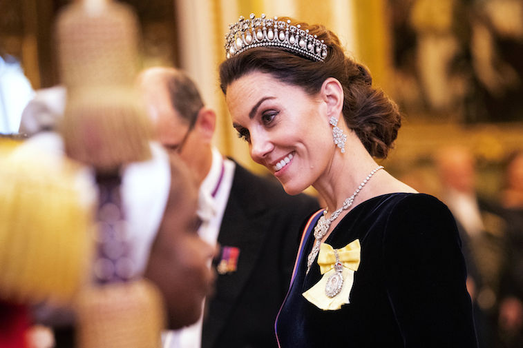 Kate Middleton at a formal reception