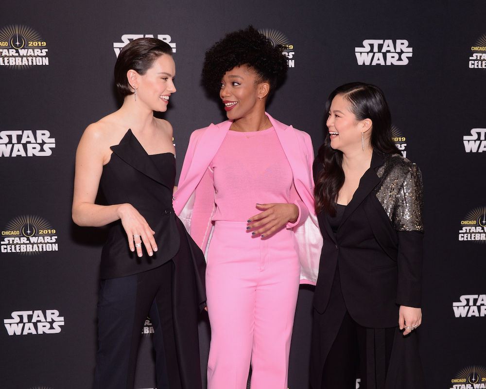 Kelly Marie Tran, Naomie Ackie and Daisy Ridley