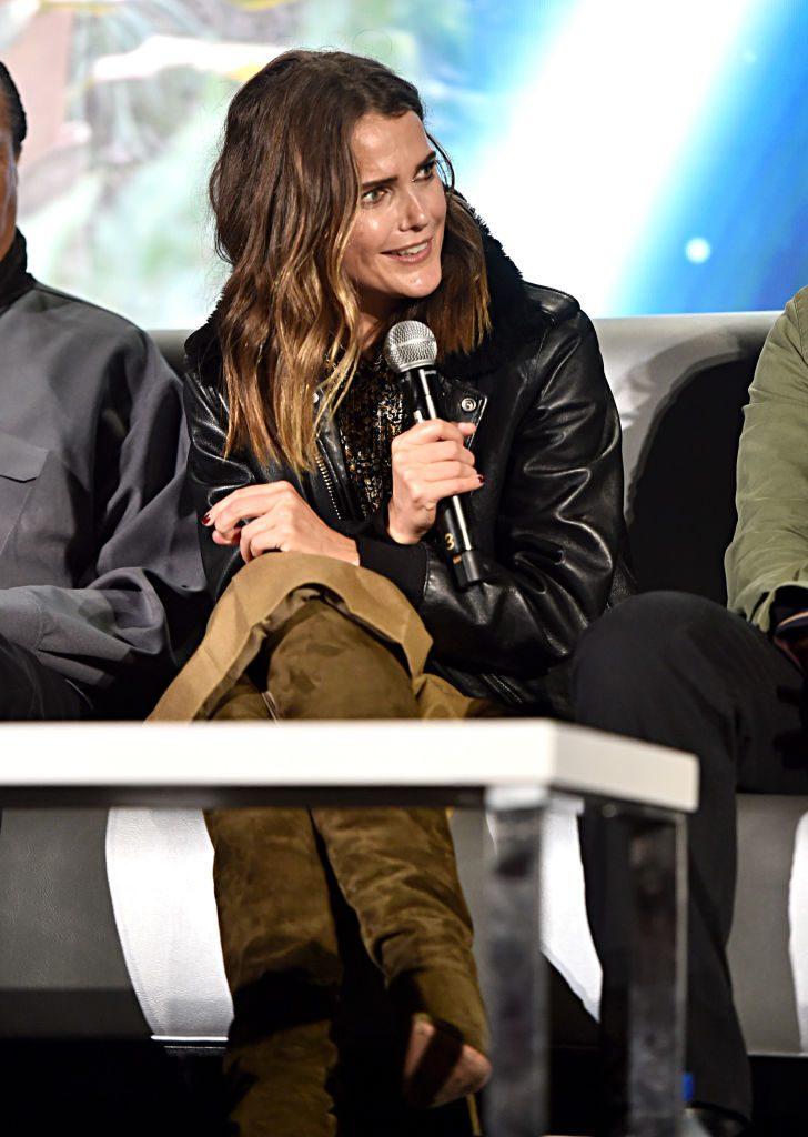 Keri Russell at the Star Wars: The Rise of Skywalker press conference