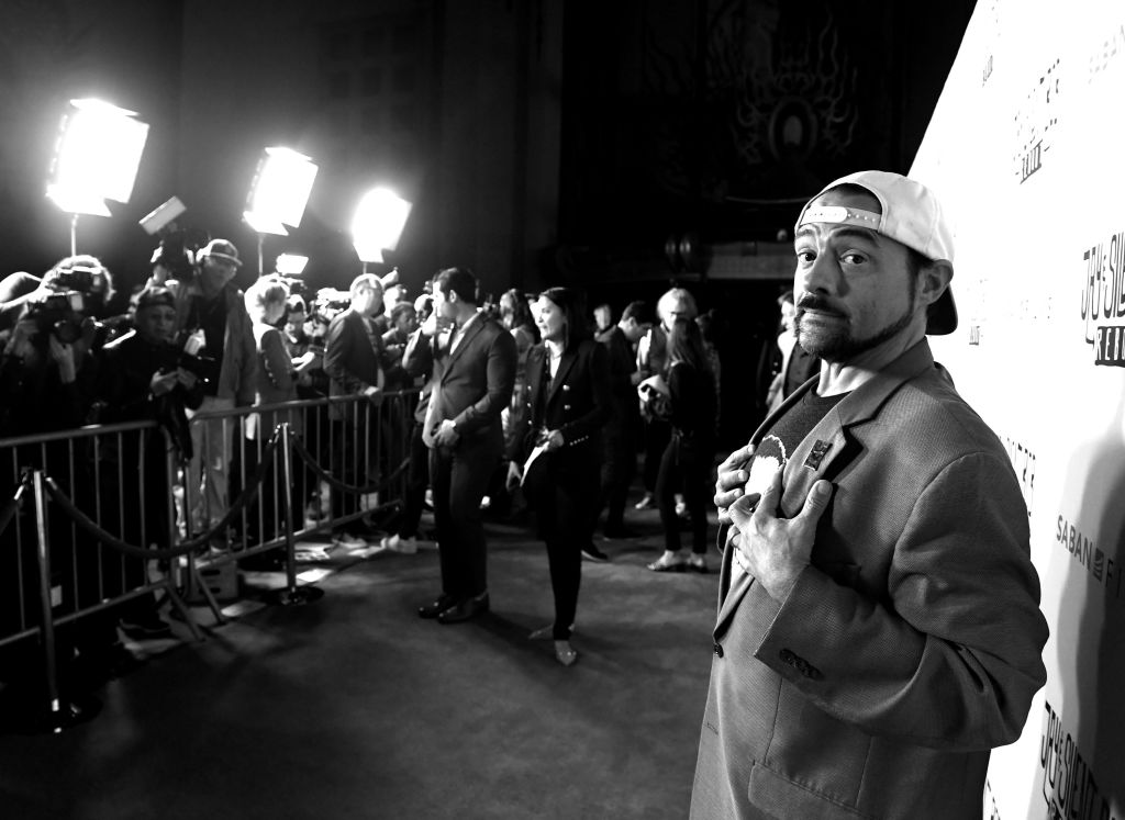 "Kevin Smith arrives at the premiere of Saban Films' ""Jay & Silent Bob Reboot"""