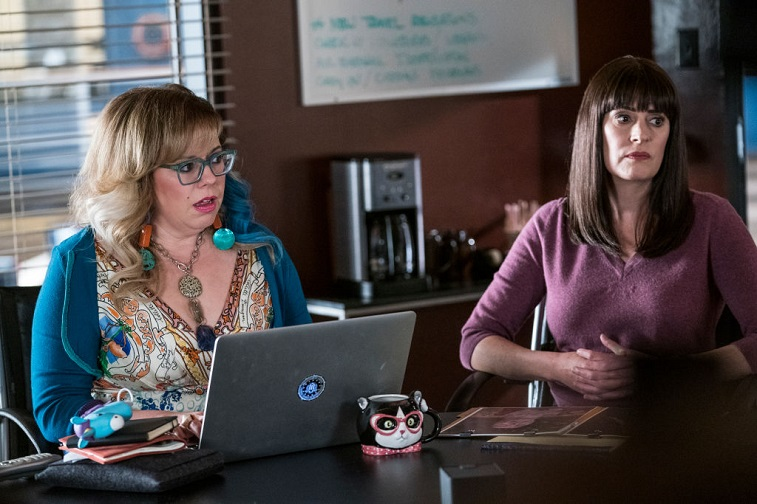 Kirsten Vangsness and Paget Brewster
