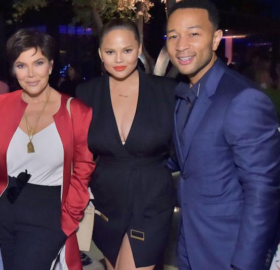 Kris Jenner, Chrissy Teigen, and John Legend