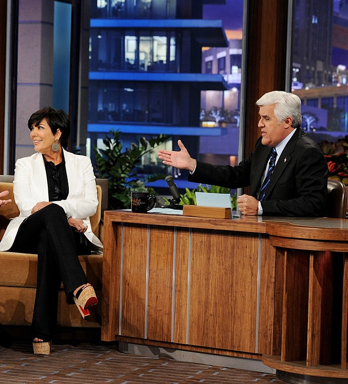 Kris Jenner and Jay Leno