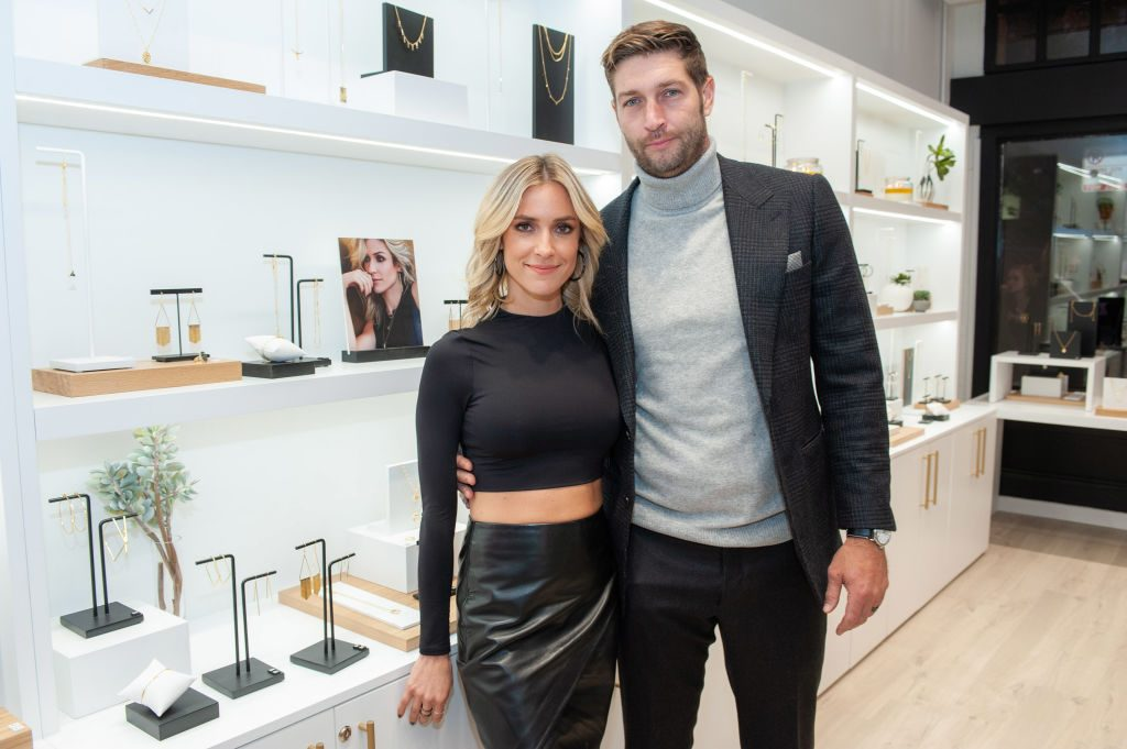 Kristin Cavallari and Jay Cutler attend the Uncommon James VIP Grand Opening at Uncommon James