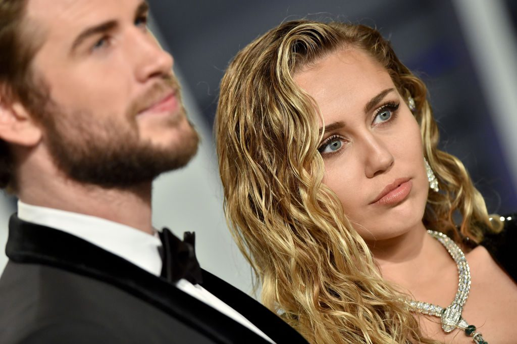 Miley Cyrus and Liam Hemsworth at an event in February 2019