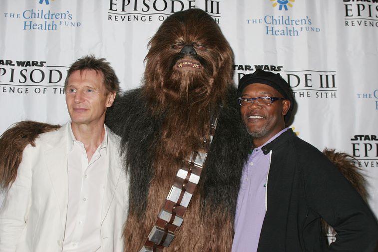 Liam Neeson, Chewbacca and Samuel L. Jackson