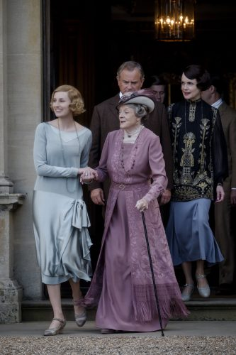 Laura Carmichael and Maggie Smith in Downton Abbey