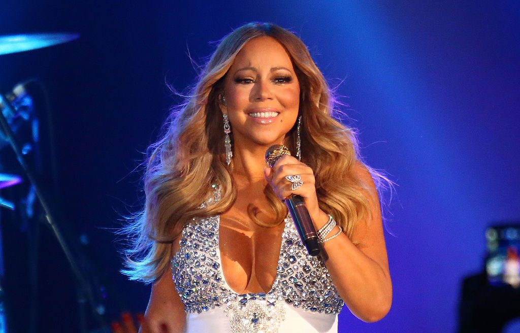 Mariah Carey performs.
