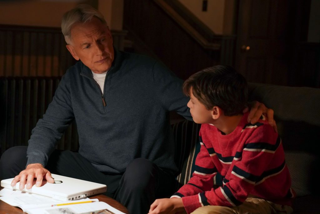 Mark Harmon and Jack Fisher on the set of NCIS    Patrick McElhenney/CBS via Getty Images