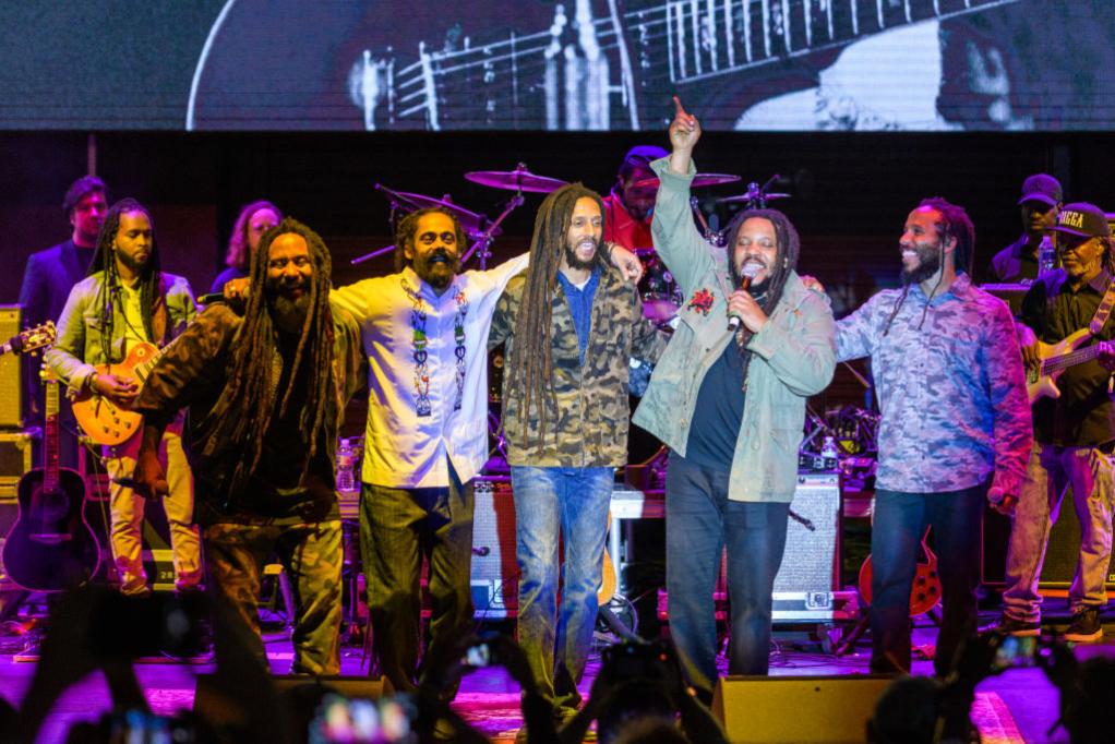 Ky-Mani Marley, Damian Marley, Julian Marley, Stephen Marley and Ziggy Marley