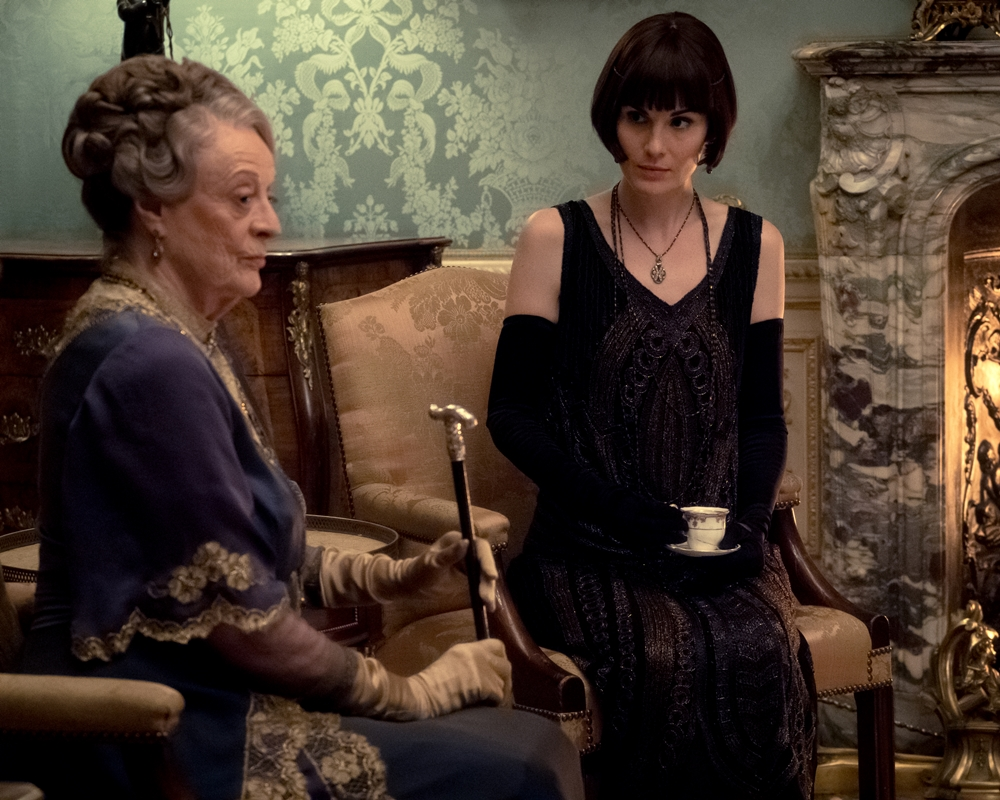 Michelle Dockery and Maggie Smith in Downton Abbey
