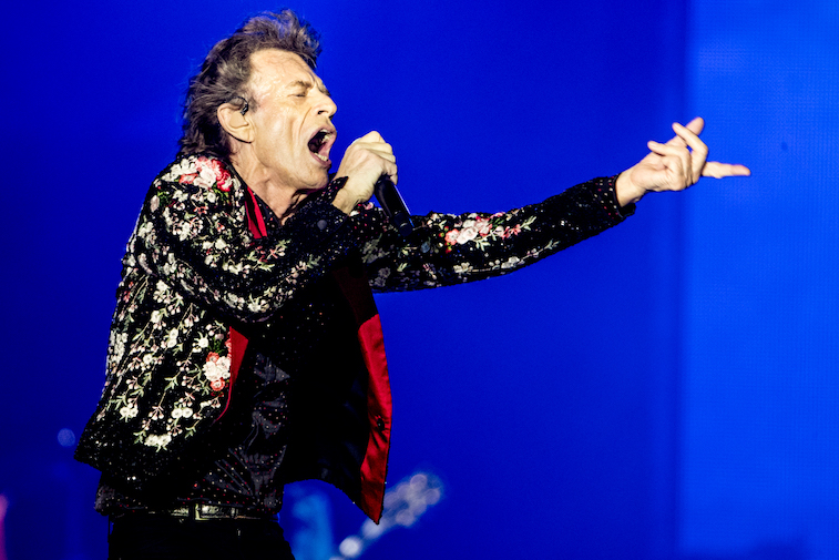 Mick Jagger performs onstage