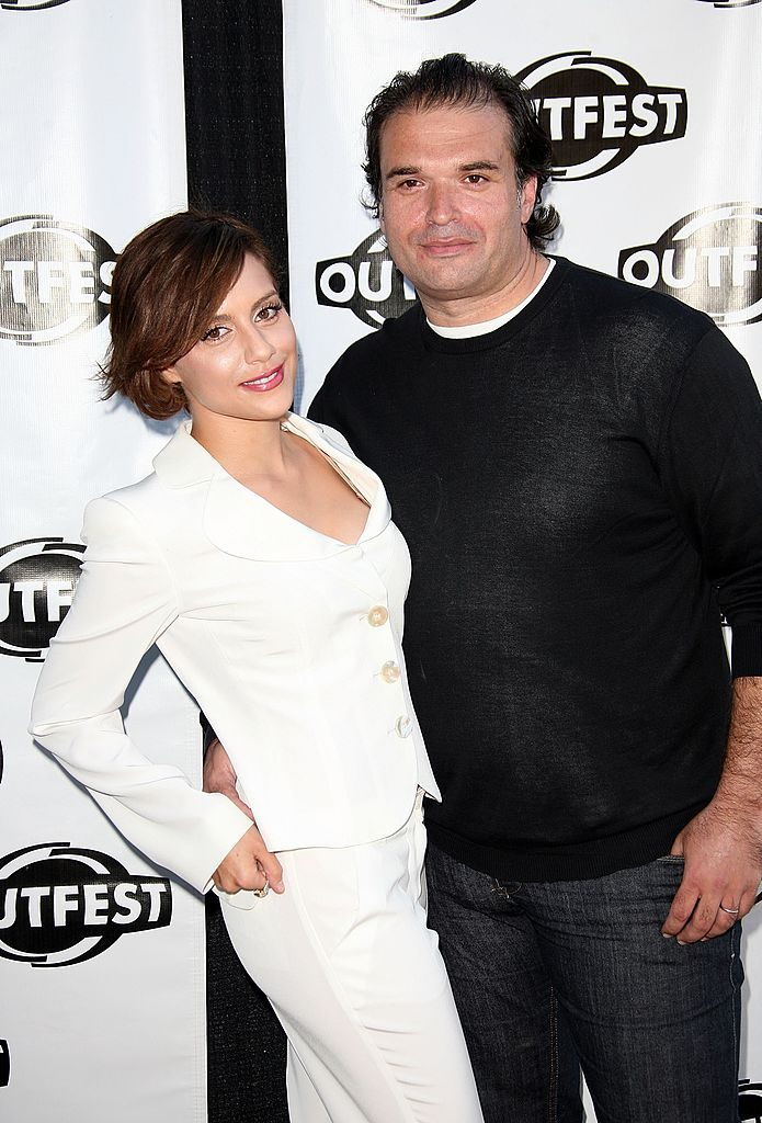 Brittany Murphy and Simon Monjack attend an OUTFEST 2007
