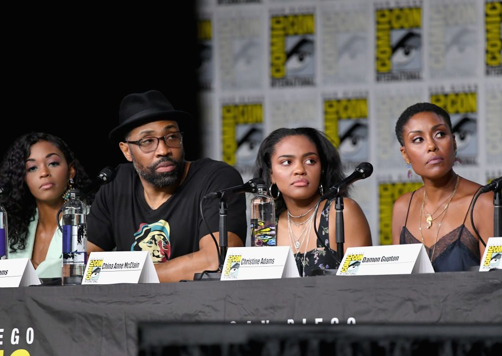 Nafessa Williams, Cress Williams, China Anne McClain, and Christine Adams of Black Lightning season 3 episode 9