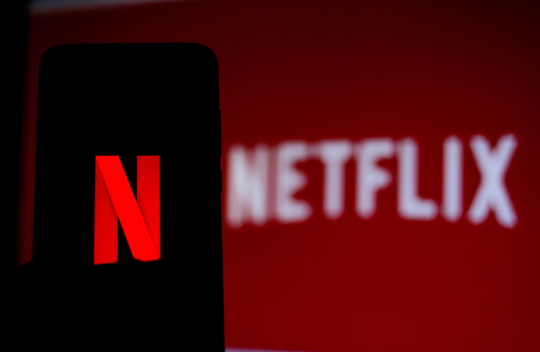 Netflix logo shown on a phone screen