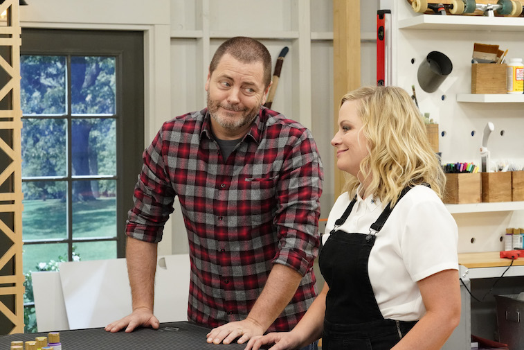 Amy Poehler and Nick Offerman in & # 39; Making It & # 39;