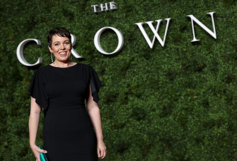Olivia Colman on the red carpet