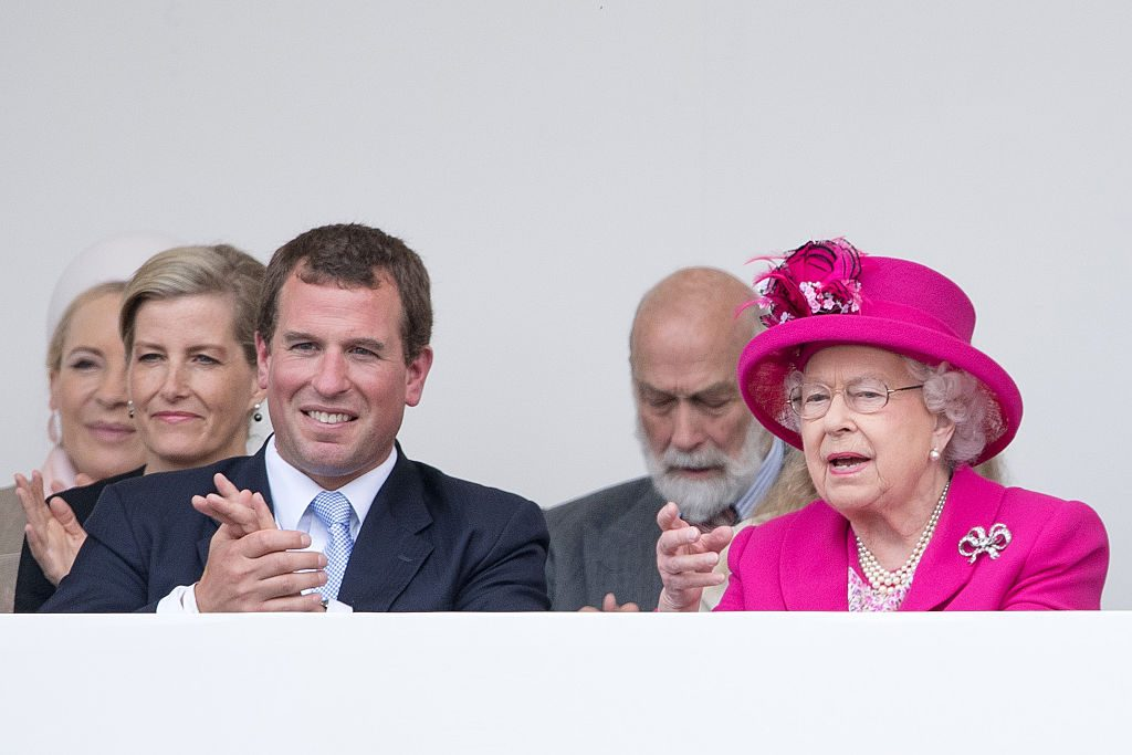 Peter Phillips and Queen Elizabeth II