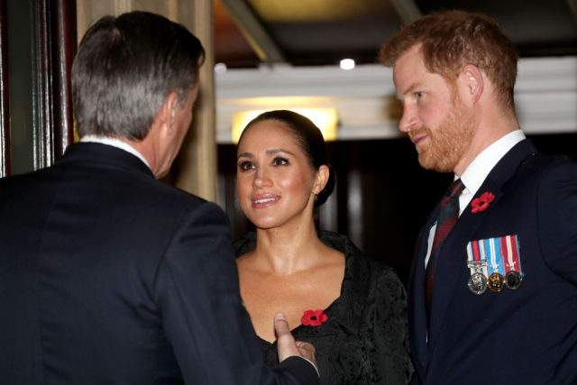 Prince Harry and Meghan Markle at the annual Royal British Legion Festival of Remembrance on Nov. 9, 2019