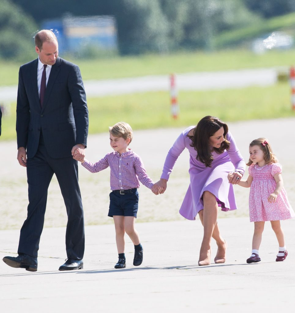 Prince William, Prince George, Kate Middleton, and Princess Charlotte