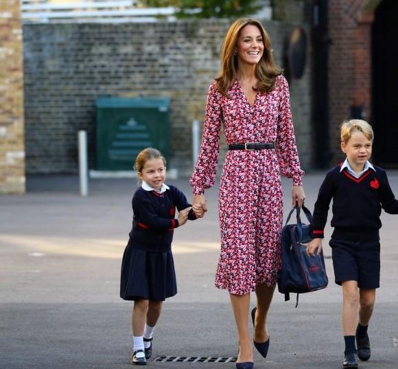 Princess Charlotte, Kate Middleton, and Prince George