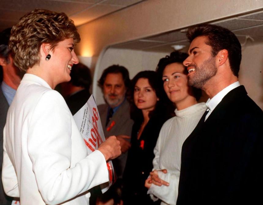Princess Diana and George Michael