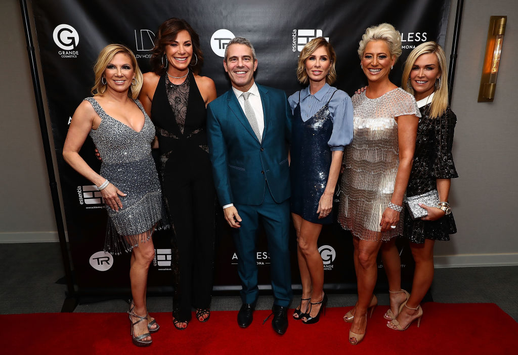 Ramona Singer, Luann de Lesseps, Andy Cohen, Carole Radziwill, Dorinda Medley and Tinsley Mortimer