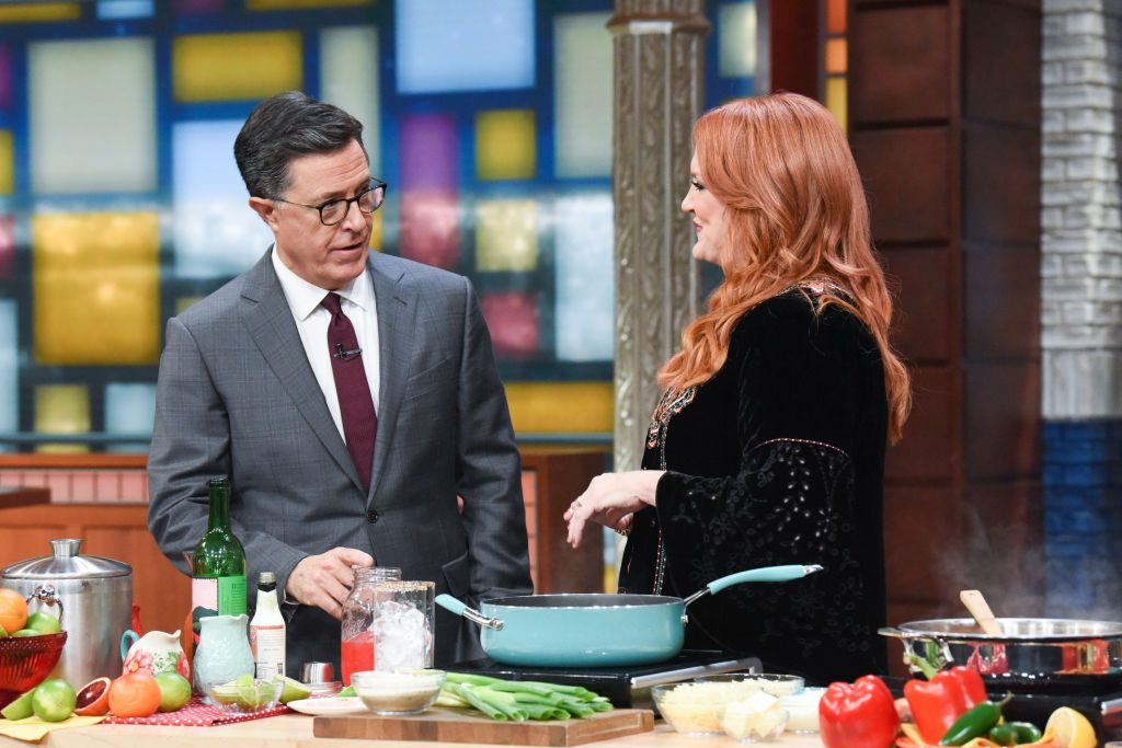 Stephen Colbert and Ree Drummond |  Scott Kowalchyk/CBS via Getty Images