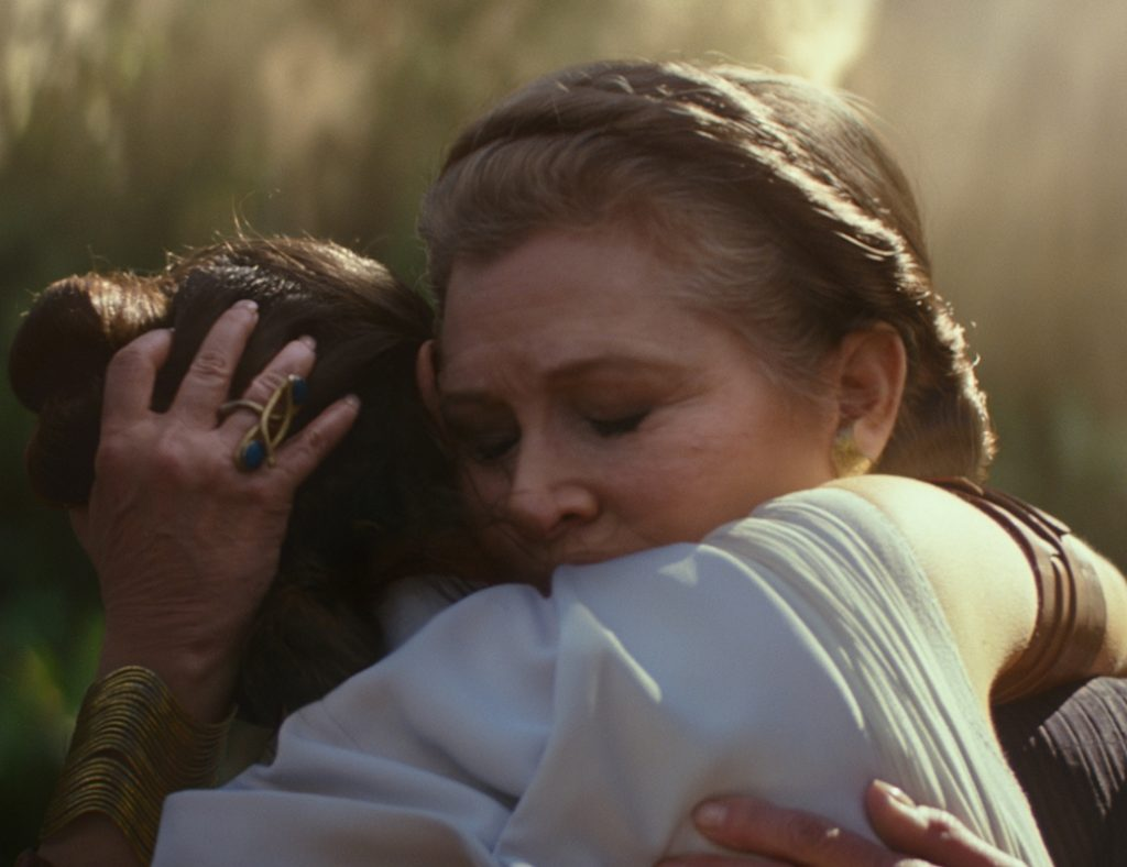 Carrie Fisher in The Rise of Skywalker