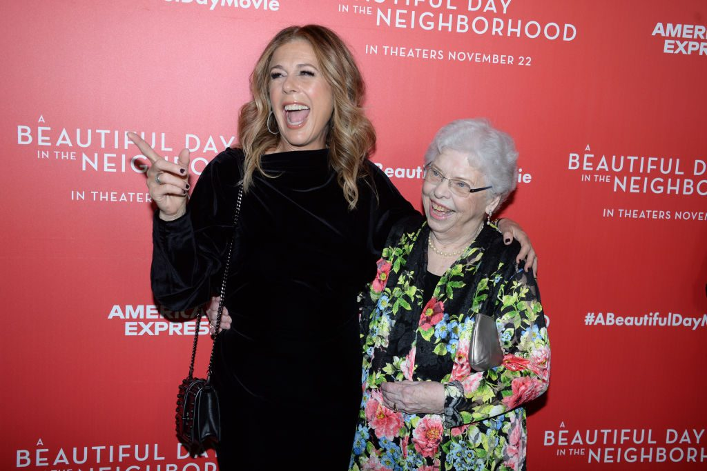 Rita Wilson and Joanne Rogers at A Beautiful Day In the Neighborhood screening