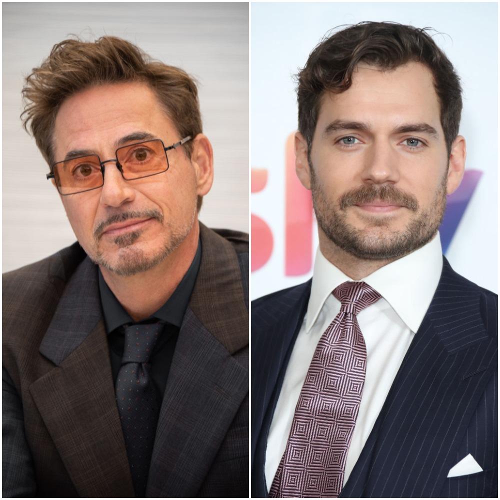 Robert Downey Jr. and Henry Cavill Sherlock Homles actors