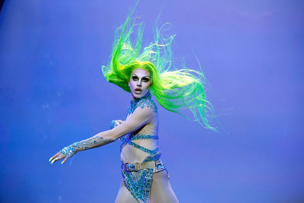 Aquaria performs during RuPaul's Drag Race: Werq The World 2019