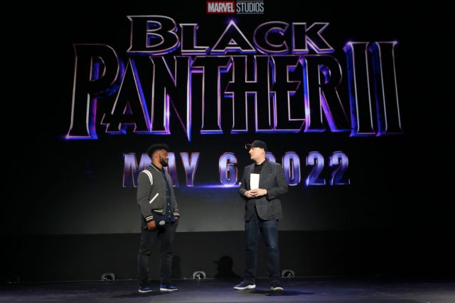 Ryan Coogler and Kevin Feige at Disney's D23 EXPO 2019